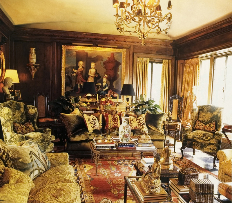 Designer Bill Eubanks 1920s Tudor Home In Memphis Reflects The Sumptuous Exuberant Style Of A Lifelong Connoisseur